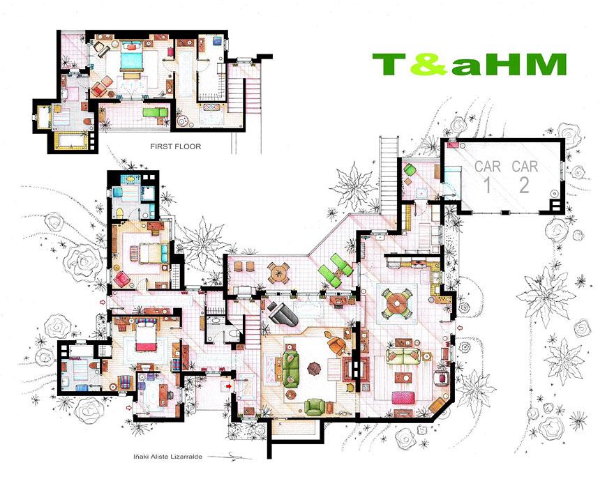 Grundrisse Wohnungen Zeichnen : TVShowWohnungen im Grundriss